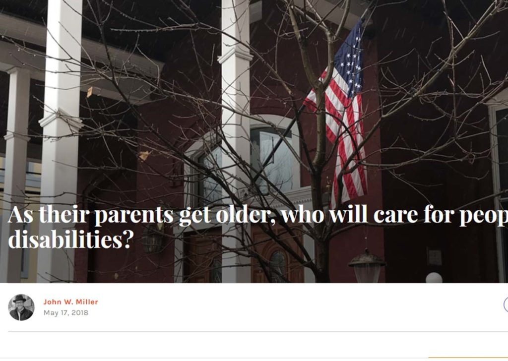 Image of AMERICA Magazine article headline about caring for adults with disabilities.