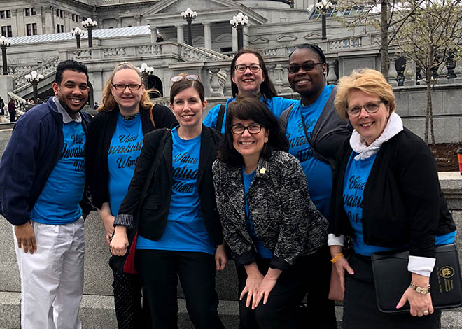 image of disability advocates outside pa capital
